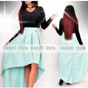 NedyN menta zöld színű  elöl rövid hátul hosszított női szoknya