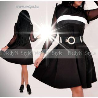 NedyN Á vonalú fekete fehér Barbi ruha - öv nélkül