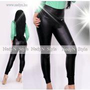 NedyN fekete bőrhatású magasderekú legging