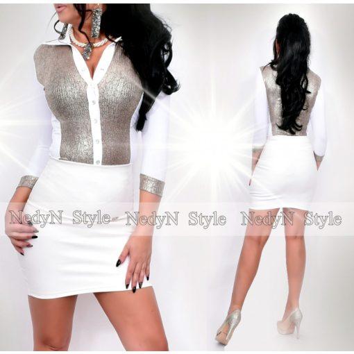 NedyN fehér arany színű  Kata női ing