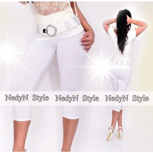 NedyN fehér poliamid capri legging