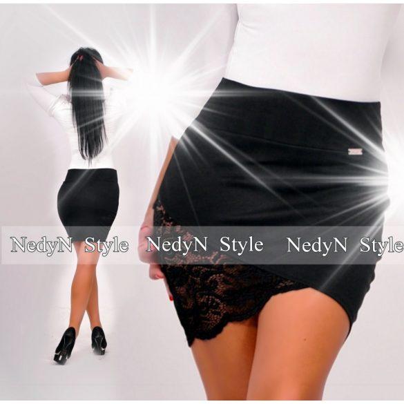 NedyN csipke betétes fekete puntó szoknya - NedyN női ruha webshop ... 547a07b0e1