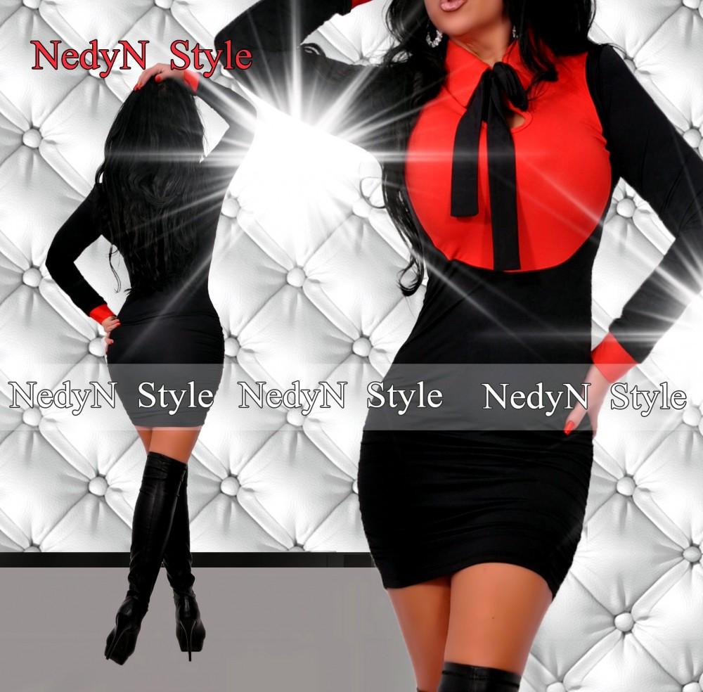NedyN nyakánál megköthető piros galléros női ruha - poliamid - NedyN ... c08a00633d