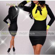 NedyN sárga nyakánál megkötős női ruha