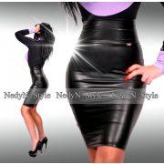 NedyN fekete bőrhatású Babi szoknya