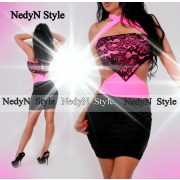 NedyN Neon neon oldalán nyitott női ruha