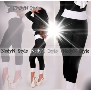 NedyN fekete fehér poliamid legging
