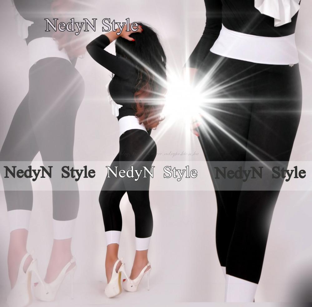c2251fdd3b NedyN fekete fehér poliamid legging - NedyN női ruha webshop, Ruha ...
