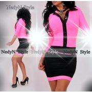 NedyN Neon pink patentos Kata női ruha