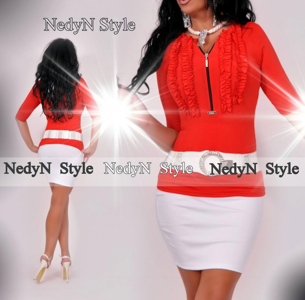 2cccbbcc6c NedyN piros zsabós női felső - NedyN női ruha webshop, Ruha kis és ...